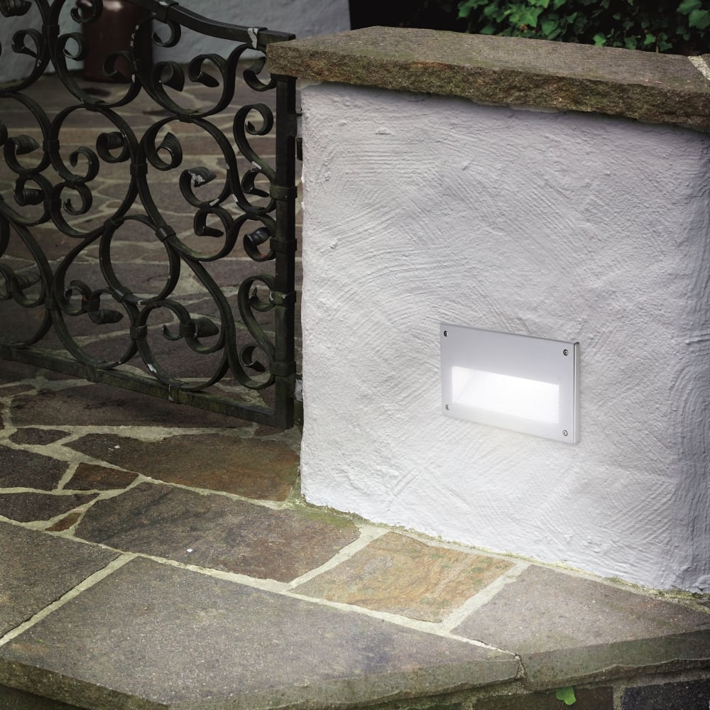 Zimba IP44 Exterior Low Level Recessed Brick Wall Light