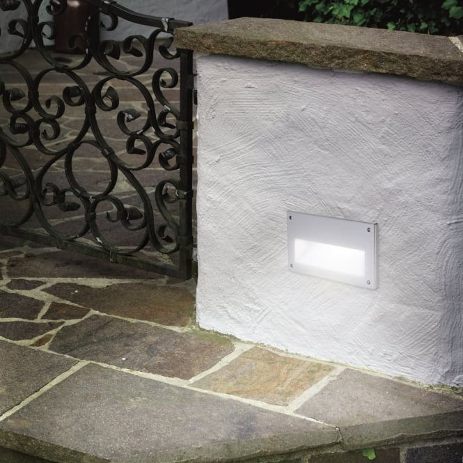 Eglo Zimba IP44 Exterior Low Level Recessed Brick Wall Light