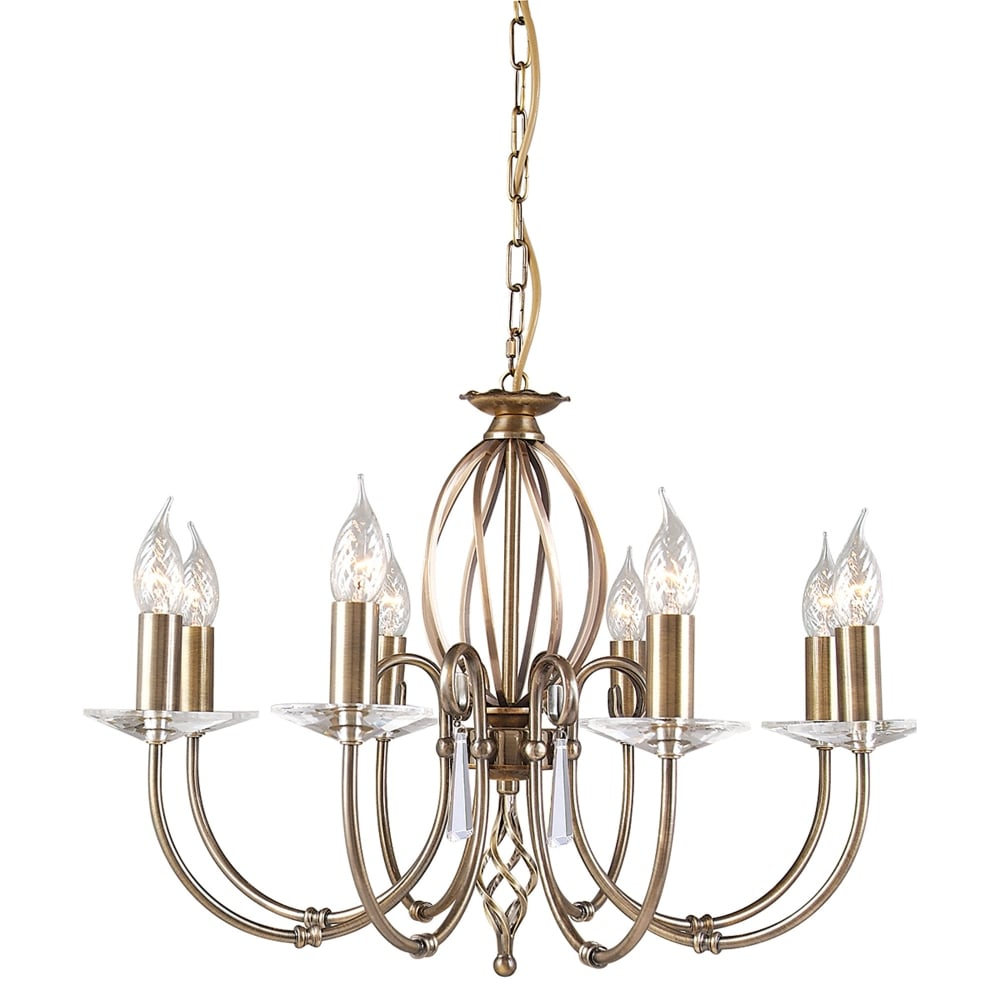 competitive price 67bf1 d74b3 Aegean Eight Arm Aged Brass Chandelier
