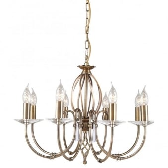 Aegean Eight Arm Aged Brass Chandelier