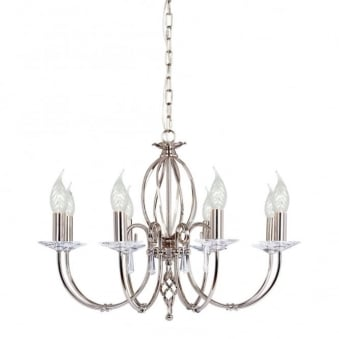 Aegean Eight Arm Polished Nickel Chandelier