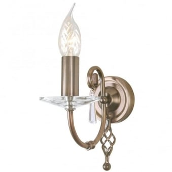 Aegean Single Arm Aged Brass Wall Light