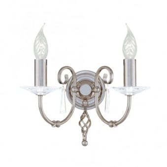 Aegean Two Arm Polished Nickel Wall Light