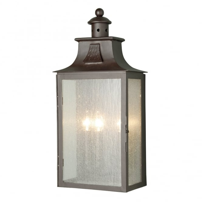 Elstead Lighting Balmoral Wrought Iron Large Outdoor Half Wall Light
