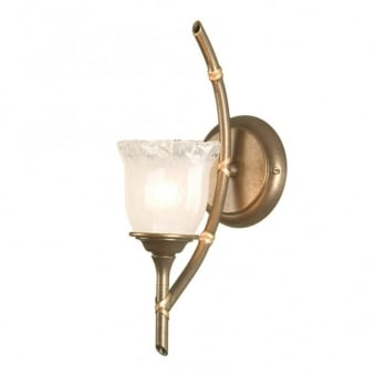 Bamboo IP44 Bronze Patina Single Arm Wall Light