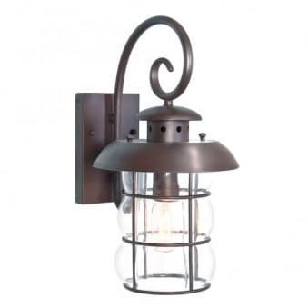 Bibury Wrought Iron Outdoor Wall Light