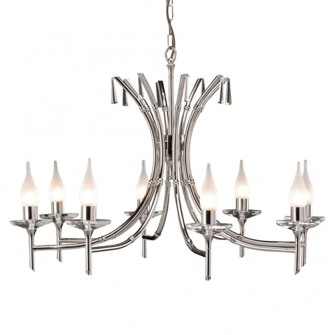 Elstead Lighting Brightwell Eight Arm Polished Nickel Chandelier