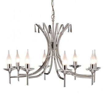 Brightwell Eight Arm Polished Nickel Chandelier