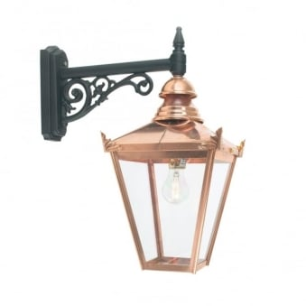 Chelsea CS2 Copper Exterior Wall Down Lantern