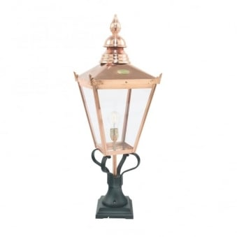 Chelsea CS3 Copper Exterior Pedestal Light