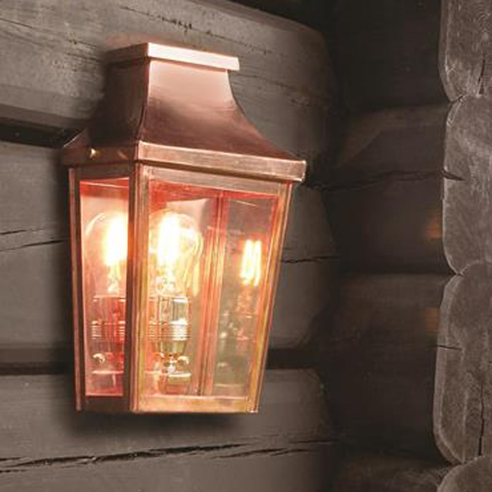 Outdoor Wall Lights Copper: Elstead Lighting Chelsea CS7-2 Copper Half Exterior Wall
