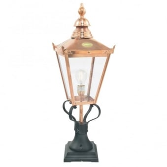Chelsea Grande CSG3 Copper Exterior Pedestal Light