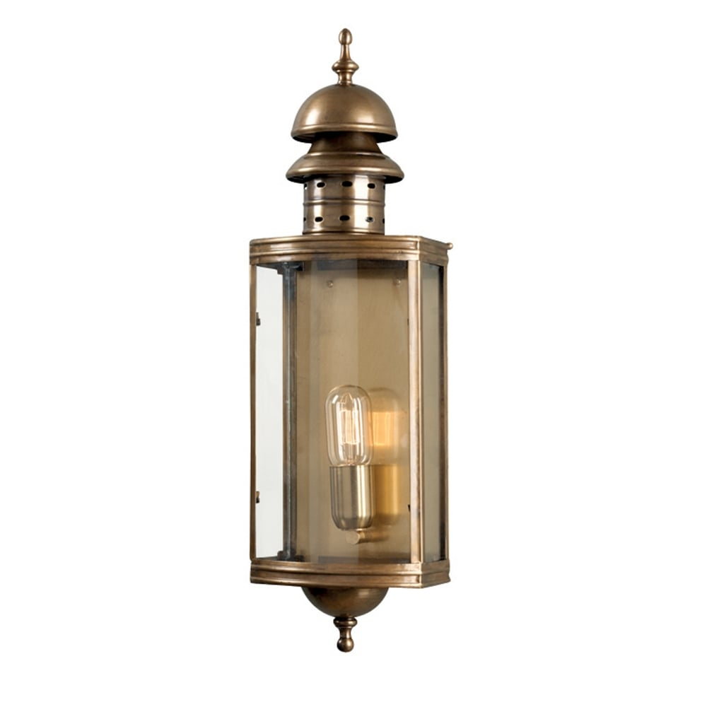 Lantern Type Wall Lights : Elstead Lighting Downing Street Solid Brass Outdoor Wall Lantern - Fitting Type from Dusk ...