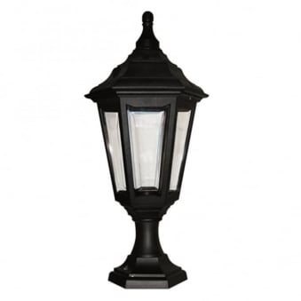 Elstead Kinsale 6 Sided Outdoor Pedestal Light