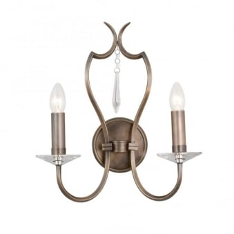 Elstead Pimlico Two Arm Dark Bronze Wall Light