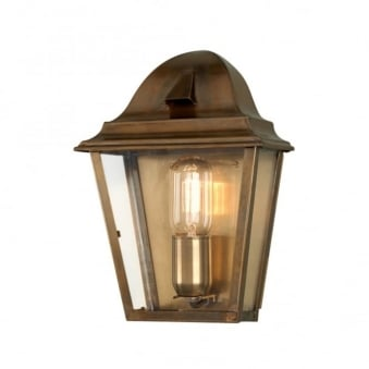 Elstead St James Solid Brass Outdoor Wall Lantern