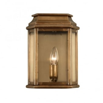 Elstead St Martins Solid Brass Outdoor Wall Lantern