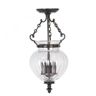 Finsbury Park Old Bronze Small Ceiling Lantern