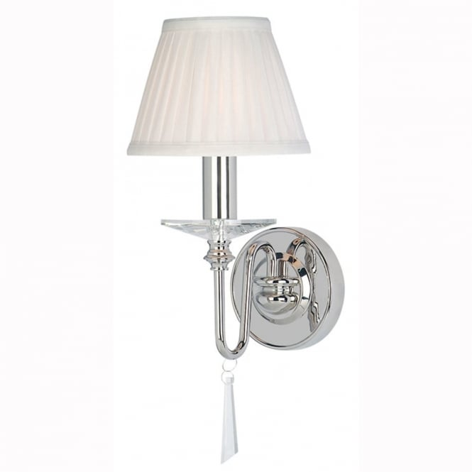 Elstead Lighting Finsbury Park One Arm Polished Nickel Wall Light