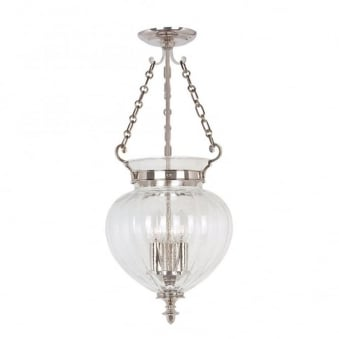 Finsbury Park Polished Nickel Medium Ceiling Lantern