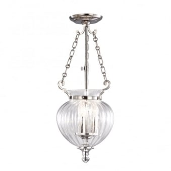 Finsbury Park Polished Nickel Small Ceiling Lantern
