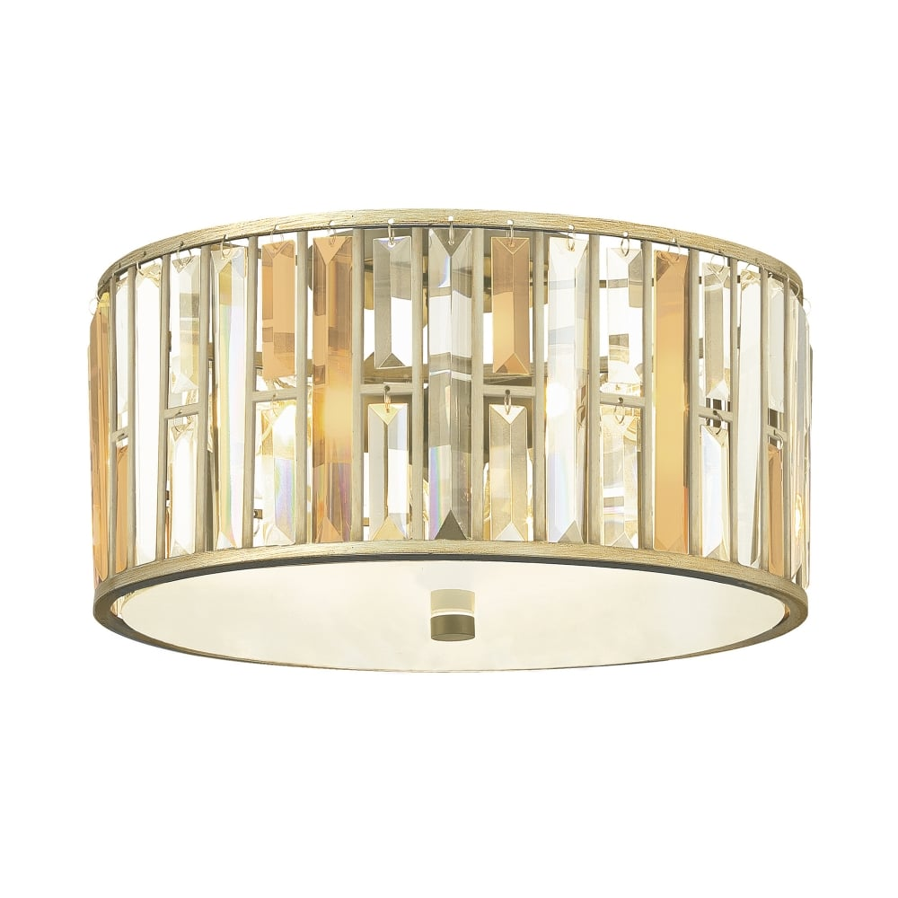 gemma flush mount ceiling light in silver leaf
