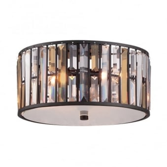 Gemma Flush Mount Ceiling Light in Vintage Bronze