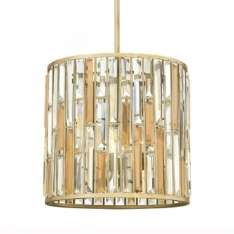 Gemma Medium Pendant Light in Silver Leaf