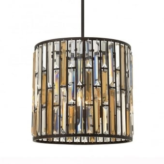 Gemma Medium Pendant Light in Vintage Bronze