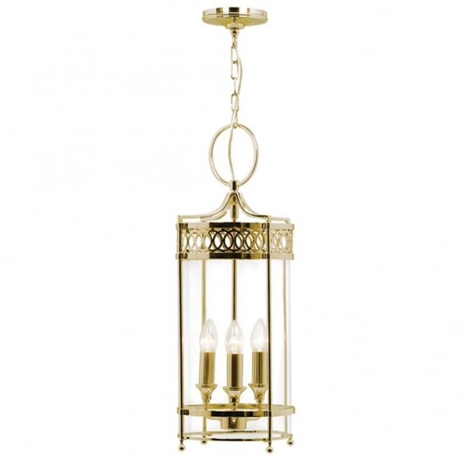 Elstead Lighting Guildhall Chain Lantern in Polished Brass