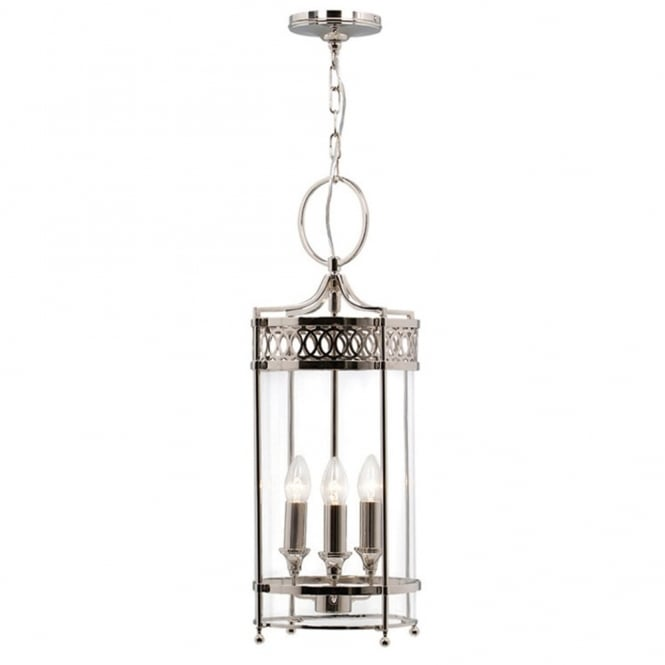 Elstead Lighting Guildhall Chain Lantern in Polished Nickel
