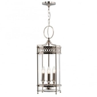Guildhall Chain Lantern in Polished Nickel