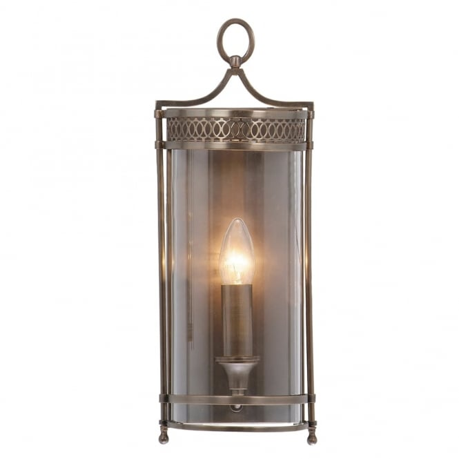 Elstead Lighting Guildhall Wall Light in Dark Bronze