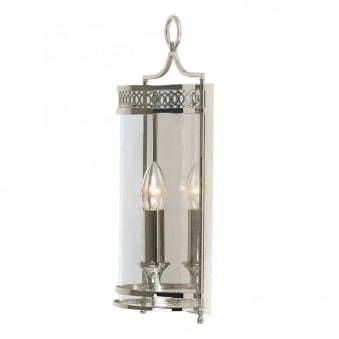 Guildhall Wall Light in Polished Nickel