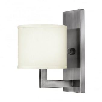 Hampton 1 Light Wall Light in Antique Nickel