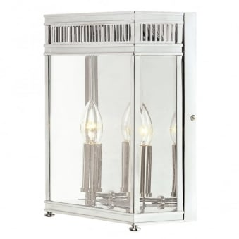 Holborn Outdoor Double Wall Light in Polished Chrome