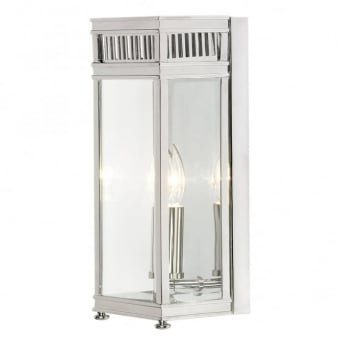 Holborn Outdoor Wall Light in Polished Chrome