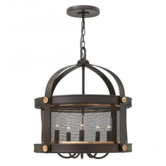 Holden 5 Light Chandelier in Buckeye Bronze