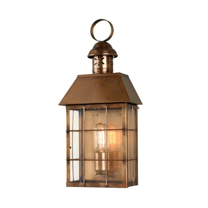 Elstead Lighting Hyde Park Solid Brass Outdoor Wall Lantern