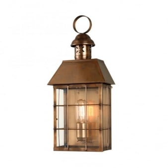 Hyde Park Solid Brass Outdoor Wall Lantern