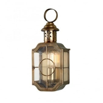 Kennington Solid Brass Outdoor Wall Lantern