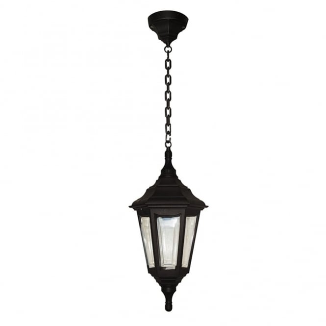 Elstead Lighting Kinsale 6 Sided Weatherproof Chain Pendant Light