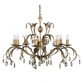 Lily Antique Bronze Patina Eight Arm Chandelier