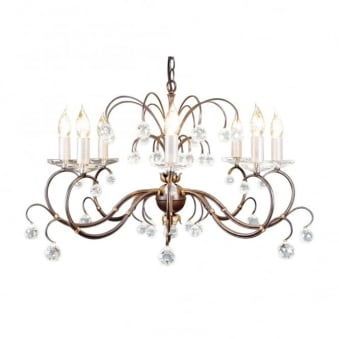 Lunetta Bronze Patina Eight Arm Chandelier