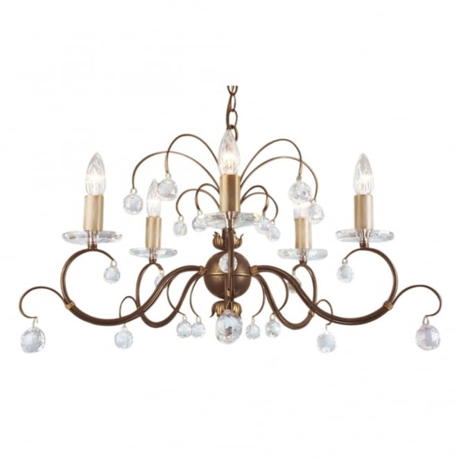Elstead Lighting Lunetta Bronze Patina Five Arm Chandelier