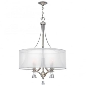 Mime 4 Light Chandelier in Brushed Nickel