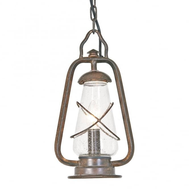 Elstead Lighting Miners Wrought Iron Chain Pendant Light