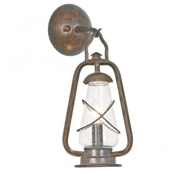 Miners Wrought Iron Outdoor Wall Light
