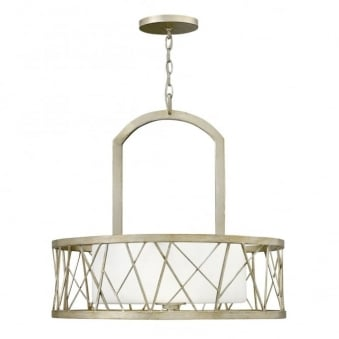 Nest Oval Pendant Chandelier In Silver Leaf