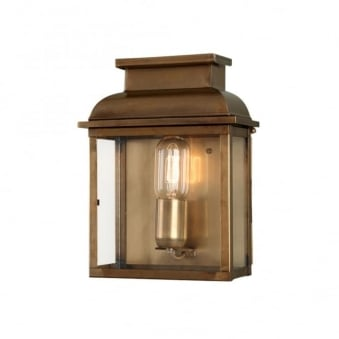 Old Bailey Solid Brass Outdoor Wall Lantern